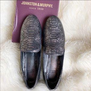 NIB Johnston & Murphy Sierra Graphite Loafer 6.5